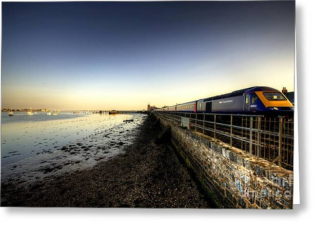Exeter Greeting Cards - Speeding Thro Starcross Greeting Card by Rob Hawkins