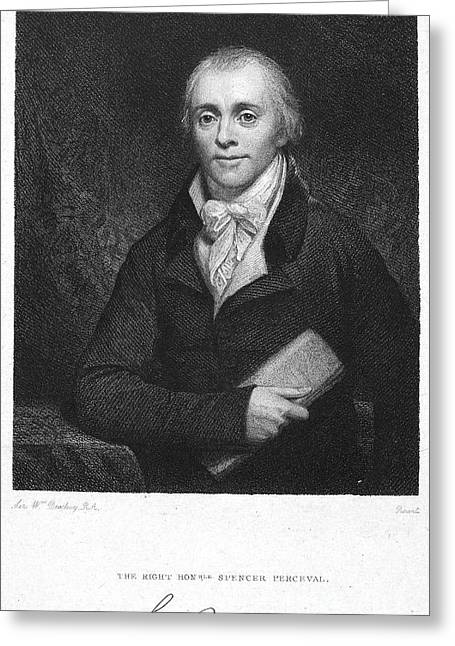 Autograph Greeting Cards - Spencer Perceval (1762-1812) Greeting Card by Granger