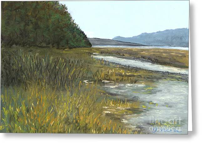 Pacific Northwest Pastels Greeting Cards - Spencer Tidelands Greeting Card by Ginny Neece