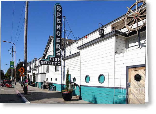 Eastbay Greeting Cards - Spengers Restaurant Berkeley California Greeting Card by Wingsdomain Art and Photography