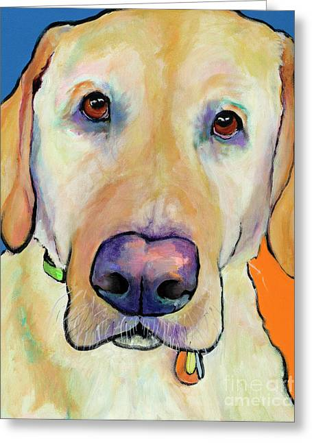 Old Labrador Greeting Cards - Spenser Greeting Card by Pat Saunders-White