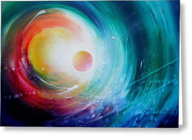 Inner World Paintings Greeting Cards - Sphere F31 Greeting Card by Drazen Pavlovic