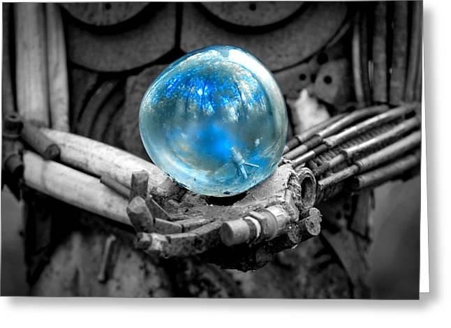 Glass And Metal Art Greeting Cards - Sphere of Interest Greeting Card by Greg Fortier