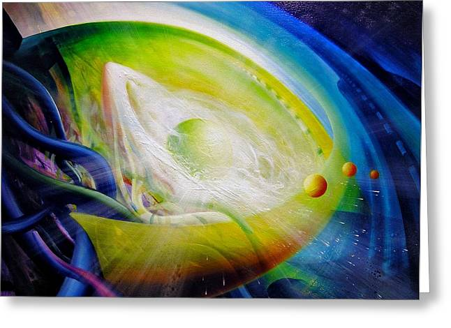SPHERE Qf70 Greeting Card by Drazen Pavlovic
