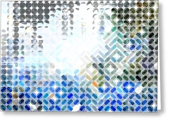 Spheremaze Greeting Card by Mark Einhorn