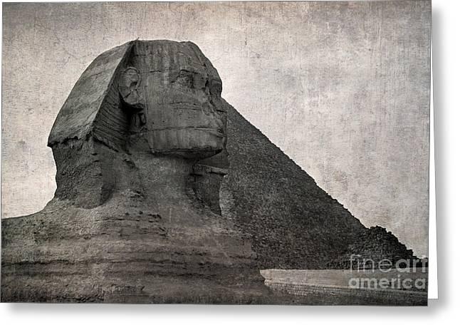 Sphinx vintage photo Greeting Card by Jane Rix