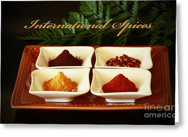 Spices From Around The World Greeting Card by Inspired Nature Photography Fine Art Photography