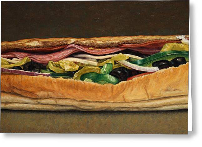 Subway Greeting Cards - Spicy Italian Greeting Card by James W Johnson