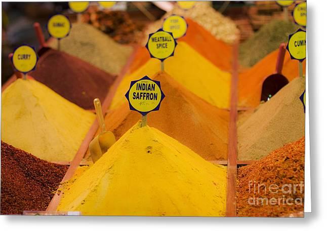 Leslie Leda Greeting Cards - Spicy Greeting Card by Leslie Leda