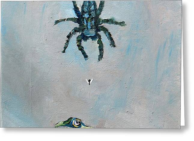 SPIDER FLY and TOAD Greeting Card by Fabrizio Cassetta