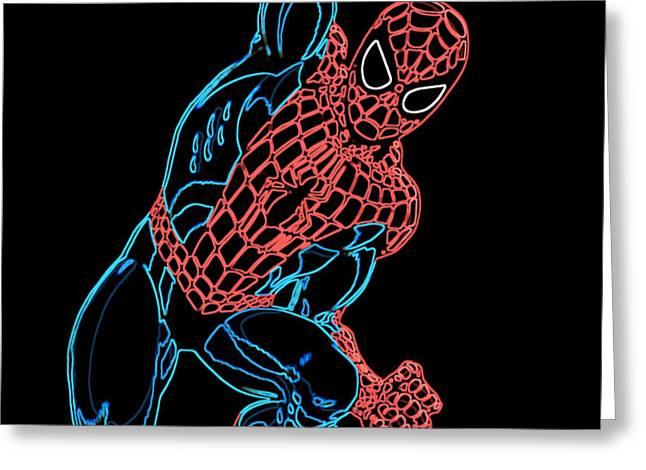 Spider Man Greeting Card by DB Artist