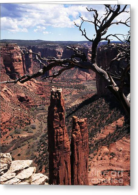 Chinle Greeting Cards - Spider Rock Greeting Card by Thomas R Fletcher