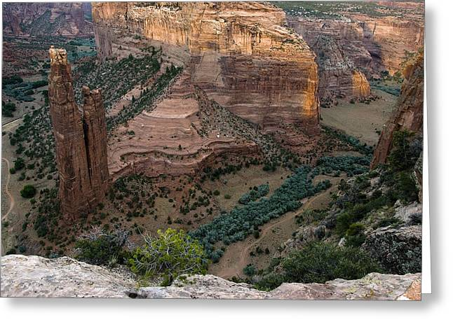 Spider Rock Vista Greeting Card by Dave Dilli