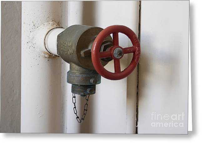 Stopper Photographs Greeting Cards - Spigot Greeting Card by Blink Images