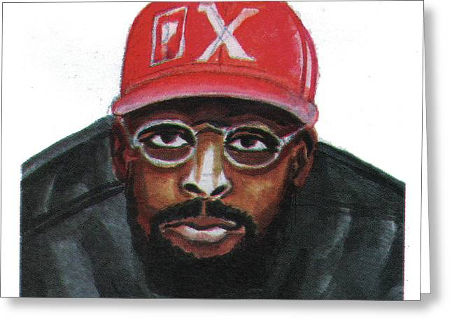 African-american Drawings Greeting Cards - Spike Lee Greeting Card by Emmanuel Baliyanga