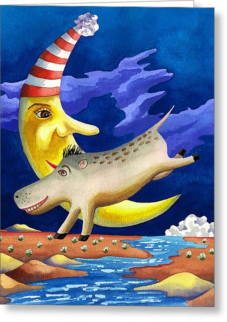 Childrens Book Greeting Cards - Spike the Dhog Arrives Greeting Card by Anne Gifford