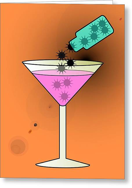 Sedation Greeting Cards - Spiked Drink, Conceptual Image Greeting Card by Stephen Wood