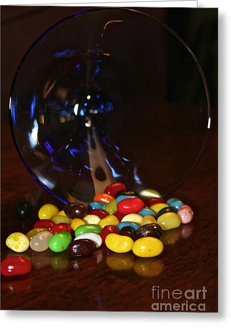 Spilled Beans Greeting Card by Susan Herber