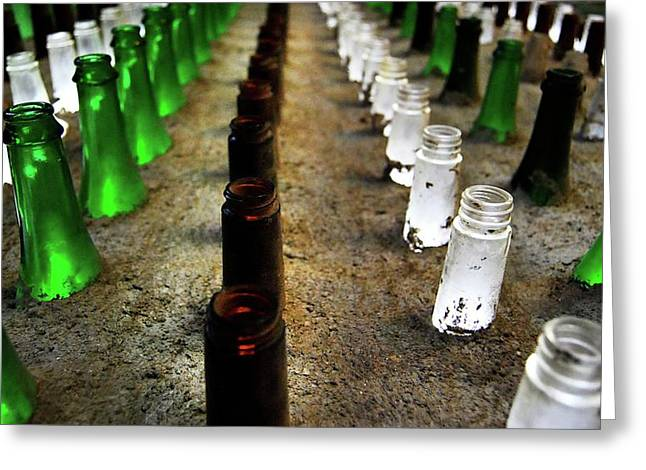 Edmonton Photographer Greeting Cards - Spin The Bottle Greeting Card by Jerry Cordeiro