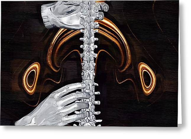Spine - Instrument of Life Greeting Card by Joseph Ventura