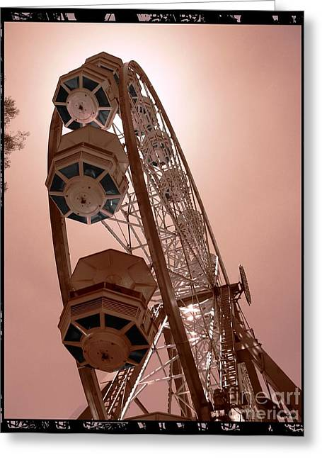 Amusements Greeting Cards - Spinning Like A Ferris Wheel Greeting Card by Glenn McCarthy Art and Photography