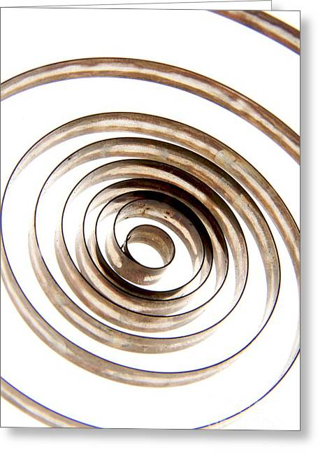 Spiral Greeting Card by Bernard Jaubert