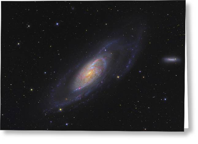M106 Greeting Cards - Spiral Galaxy Messier 106 Greeting Card by Ken Crawford