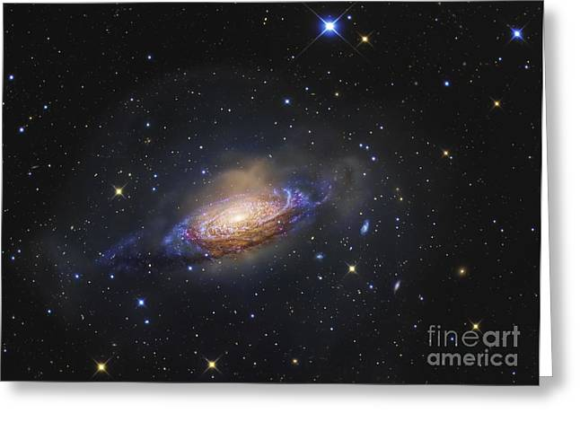 Twinkle Greeting Cards - Spiral Galaxy Ngc 3521 Greeting Card by R Jay GaBany