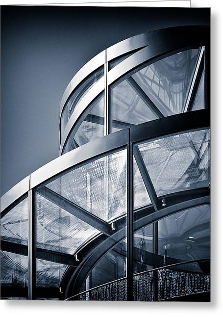 Dave Greeting Cards - Spiral Staircase Greeting Card by Dave Bowman