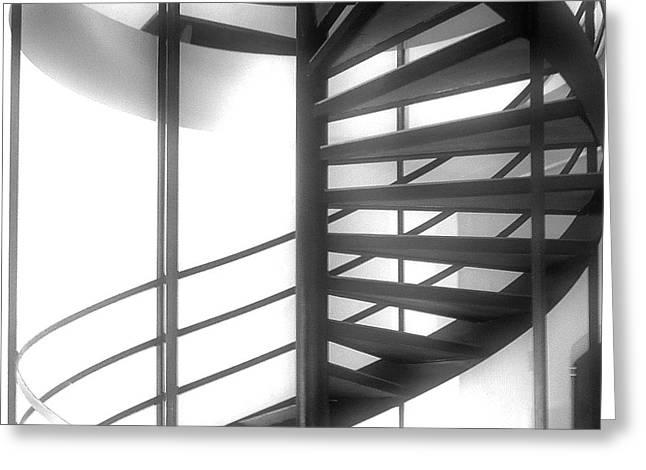 Stairs Greeting Cards - Spiral Staircase In Ethereal Light Greeting Card by Lori Seaman