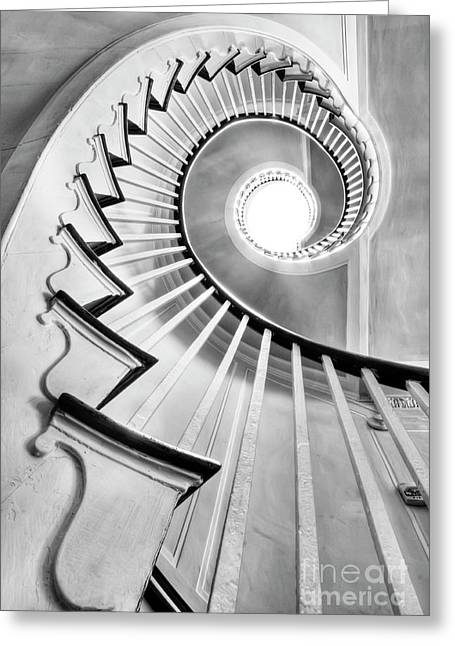 Charleston Greeting Cards - Spiral Staircase Lowndes Grove  Greeting Card by Dustin K Ryan