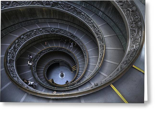 Spirals Greeting Cards - Spiral Staircase Greeting Card by Maico Presente