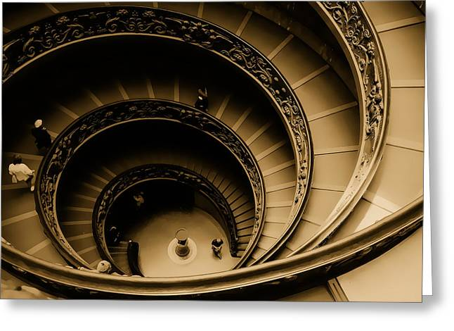 Spiral Stairs Greeting Card by Dima Kirlov