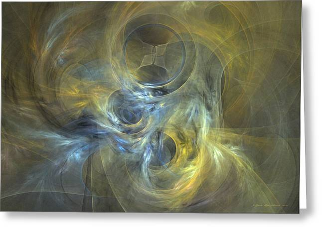 Algorithmic Abstract Greeting Cards - Spirals wrapped in mystery Greeting Card by Sipo Liimatainen