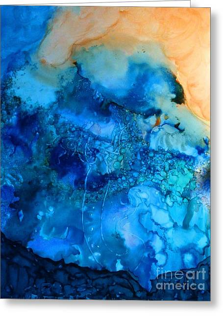 Recently Sold -  - Angel Mermaids Ocean Greeting Cards - Spirit Greeting Card by Joyce Auteri