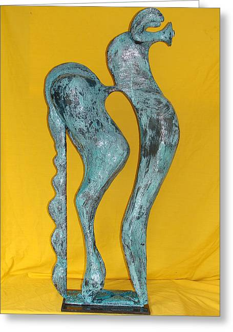 Give Sculptures Greeting Cards - Spirit Of a Young Horse Greeting Card by Al Goldfarb