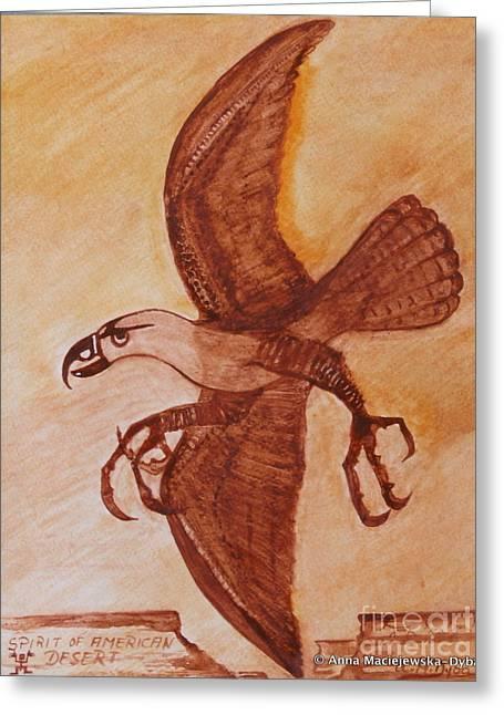 Spirit Of American Desert Greeting Card by Anna Folkartanna Maciejewska-Dyba