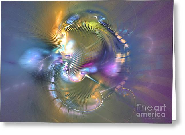 Spirit Of Nobility - Abstract Digital Art Greeting Card by Sipo Liimatainen