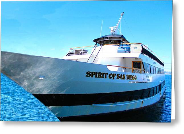 First-class Digital Art Greeting Cards - Spirit of San Diego Greeting Card by Romy Galicia