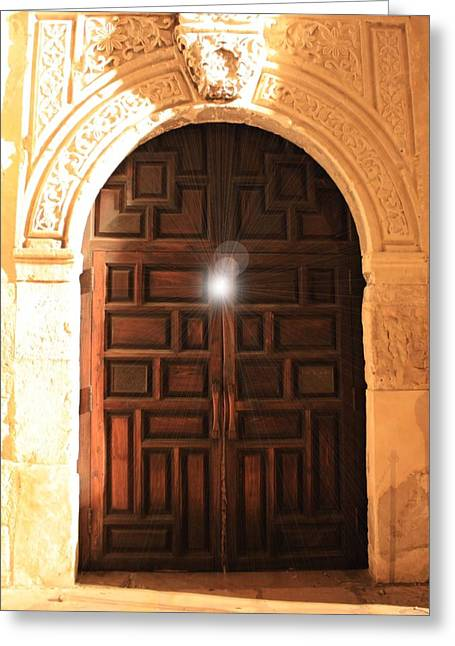 Light Within Greeting Cards - Spirit of the Alamo Greeting Card by Carol Groenen
