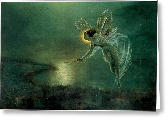 Moonlit Night Greeting Cards - Spirit of the Night Greeting Card by John Atkinson Grimshaw