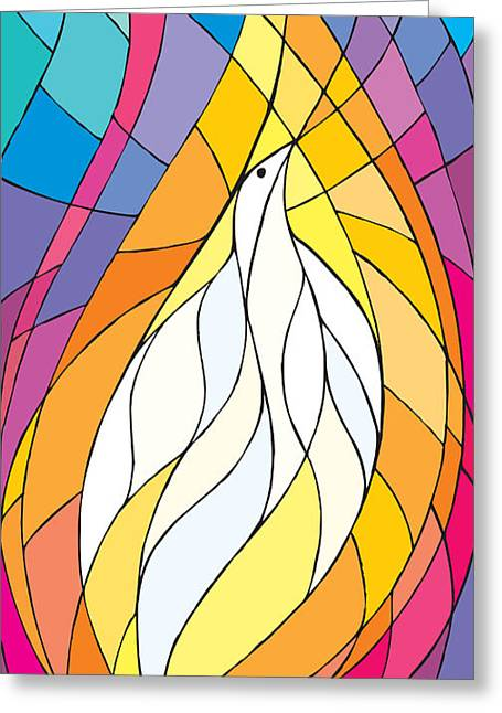 Pentecost Greeting Cards - Spirit Rests as a Dove Greeting Card by Merrill Miller