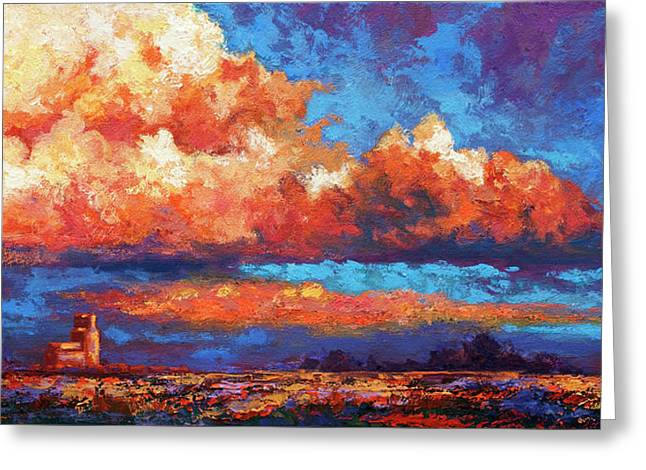 Southwest Sky Greeting Cards - Spirit Sky Greeting Card by Marion Rose