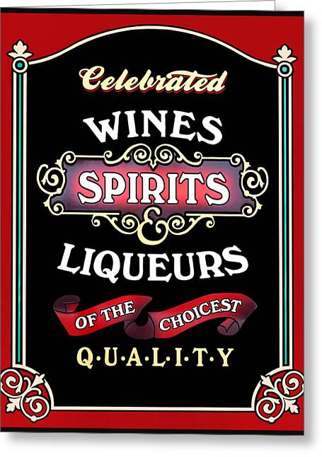 Booze Greeting Cards - Spirits Greeting Card by Kristin Elmquist