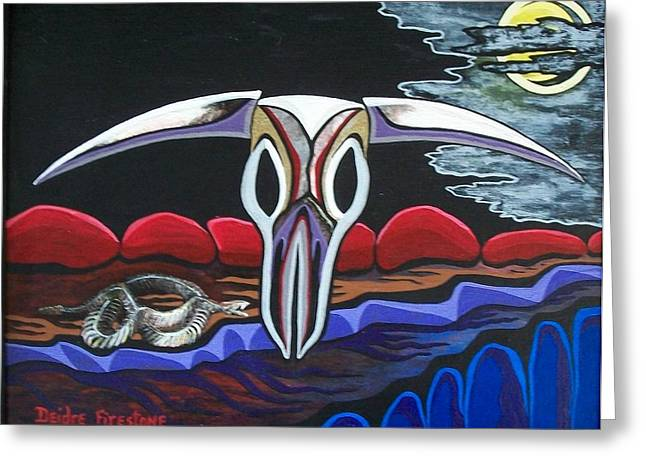 Colorful Art Greeting Cards - Spirits of the desert Greeting Card by Deidre Firestone