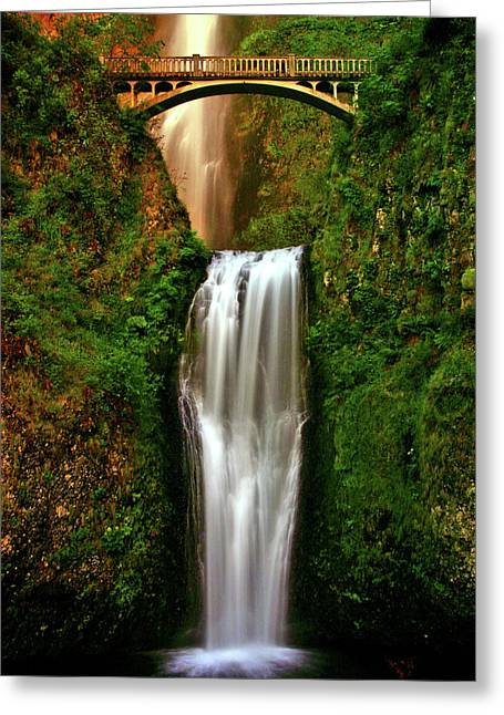 Columbia River Greeting Cards - Spiritual Falls Greeting Card by Scott Mahon