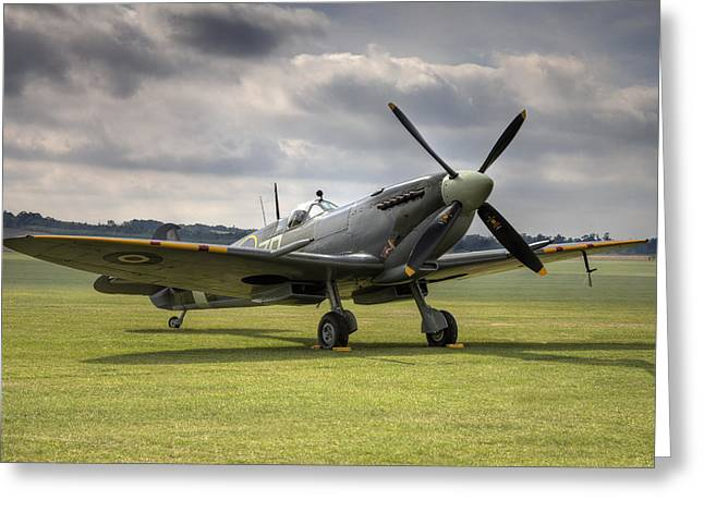 Mkix Greeting Cards - Spitfire ready to go Greeting Card by Ian Merton