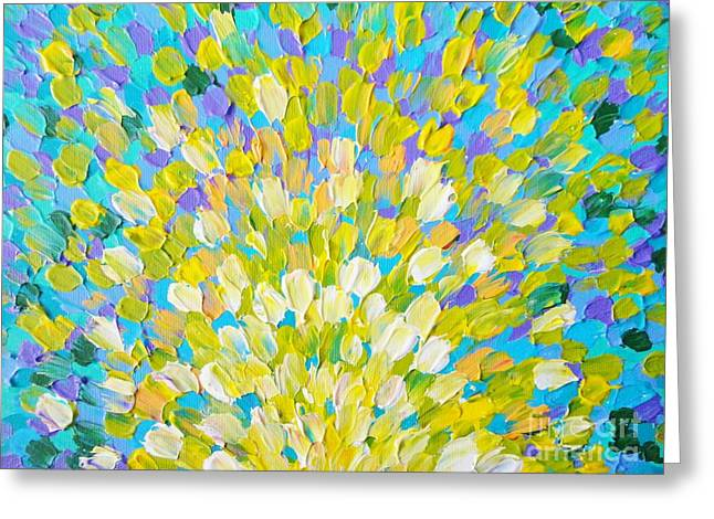 Beach Theme Abstract Greeting Cards - Splash 2 Greeting Card by Julia Di Sano