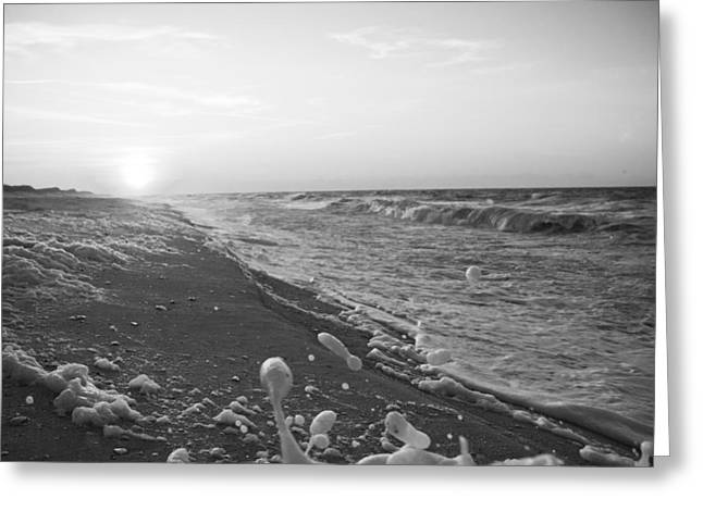 Ocean Shore Greeting Cards - Splash Greeting Card by Betsy A  Cutler