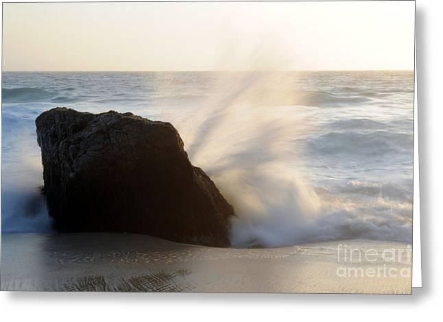 Big Sur Beach Greeting Cards - Splash Greeting Card by Catherine Lau